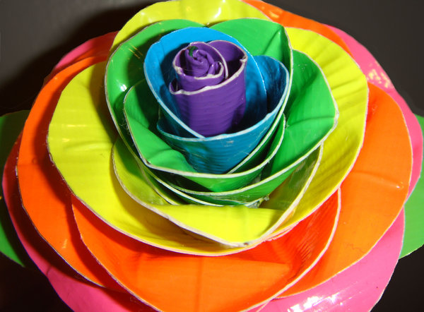 duct_tape_neon_rainbow_rose_cu_by_ducktapebandit