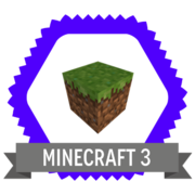 Minecraft Level 3 Badge